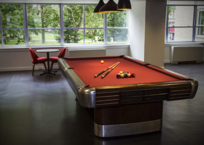 Pool table in furnished residents lounge at Rittenhouse Claridge apartments