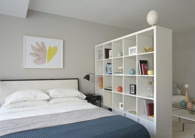 Furnished studio bedroom in Rittenhouse Square apartment
