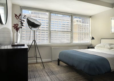 Furnished studio apartment with city views in Philadelphia, PA