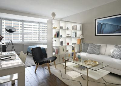 Spacious furnished studio apartment in Rittenhouse Claridge