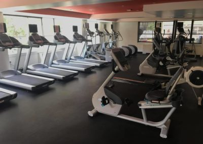 Wonderful fitness center with cardio equipment exclusively in Rittenhouse Claridge apartments for rent