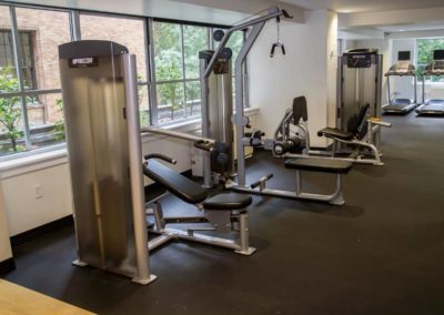 Perfect fitness center with quality weight equipment exclusively in Philadelphia apartment rentals